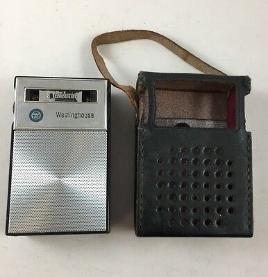 Westinghouse 8 Transistor Radio with Black Carrying Case Headphone Jack 1960s