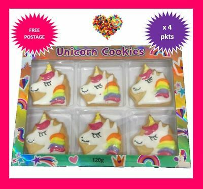 Unicorn Cookies 4Pkts X 120G  Xmas Gift Idea Unicorns Christmas Stocking Fillers