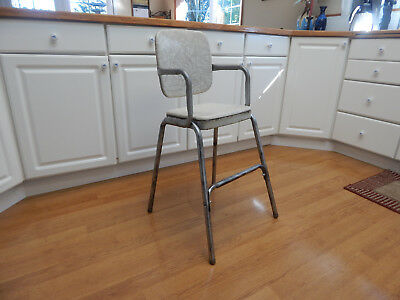 vtg mid century stool Cosco child booster chair cracked ice RARE 50's