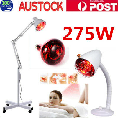 275W Infrared Therapy Heat Lamp Pain Relief Physiotherapy Desktop Floor Stand AU