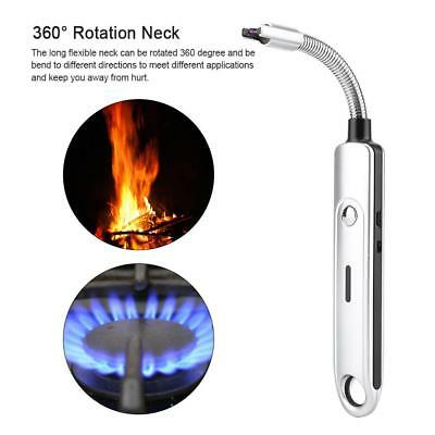 Windproof Electric Arc Lighter Flameless USB Rechargeable for Candle Stove BBQ