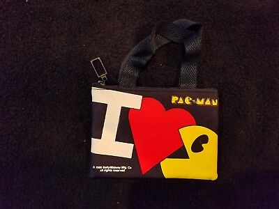 Vintage Pacman zipper grab bag / mini-purse from Bally/Midway - 1980