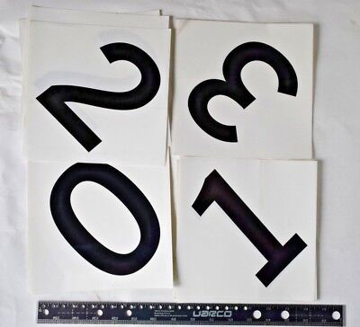 12 Right to Know LABEL Numbers 0, 1, 2, 3 DECAL STICKER Clear w adhesive x-Large