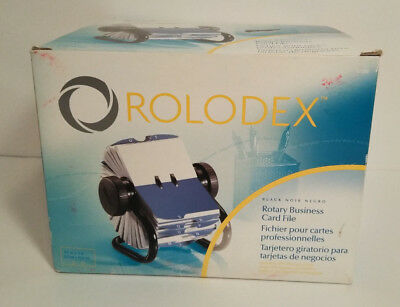 Rolodex Open Rotary Business Card File with 200 Sleeved Cards 2-5/8 by 4 inch