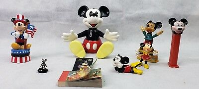 Lot of Mickey Mouse Vintage items Flip Book, Music wind up Mickey