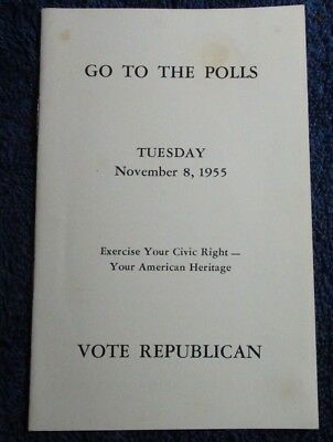 1950 Kendallville In Distributed Go To The Polls Vote Republican Candidate Info