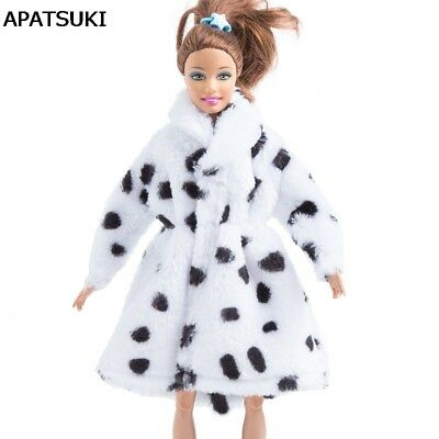"Milk Cow Fashion Doll Clothes Coat For 11.5"" Doll Winter Clothing Doll's Dress"