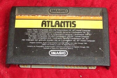 Atlantis game by iMagic for the Commodore VIC-20