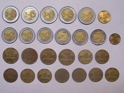 Lot of 73 Coins From Peru - 75.76 Soles Total 1 5 10 20 50 Centimos 1 2 5 Soles