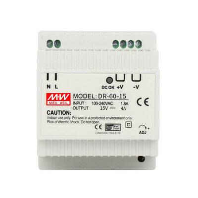 DR-60 60W Single Output 5V 12V 15V 24V Din Rail Switching Power Supply