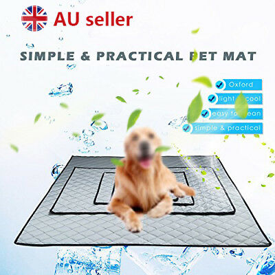 AU Pet Dog Cool Cooling Gel Mat Dog Cat Bed Non-Toxic Dog Summer Pad 4 Sizes