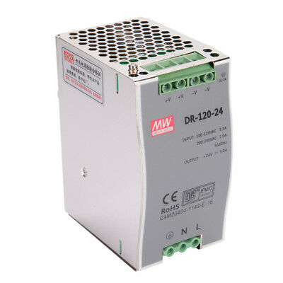 DR-120 120W Single Output  12V 15V 24V 36V 48V Din Rail Switching Power Supply