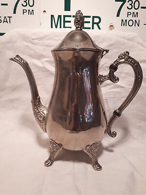 Silver plated Teapot antique Ornate