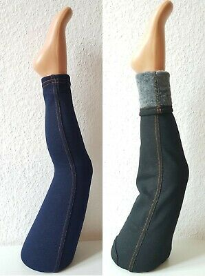 Winterleggings-Jeans-Optik GR.92-158 Mädchen Leggins Fell Hose Thermo  Kinder