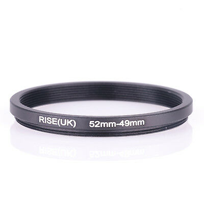 RISE (UK) 52-49 MM 52MM-49MM 52 to 49 Step Down Ring Filter Adapter