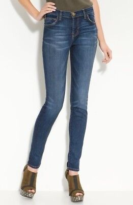RARE $198 Current/Elliott The High Waist Skinny Stretch Jeans Townie Wash 26x32