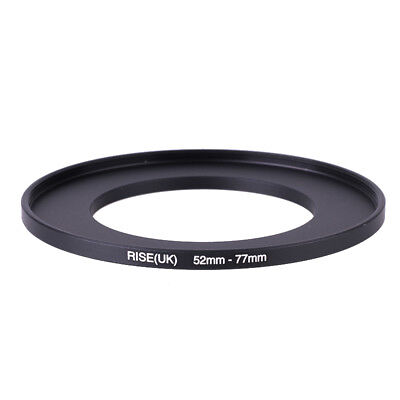 RISE(UK) 52mm-77mm 52-77 mm 52 to 77 Step Up Ring Filter Adapter black