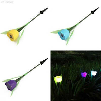 0232 Outdoor Solar Powered Tulip Flower LED Light Yard Christmas Party Way Park