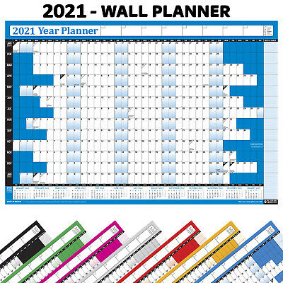2019 NON-LAMINATED Yearly Wall Planner Calendar✔ Holiday, Home, Office, Staff