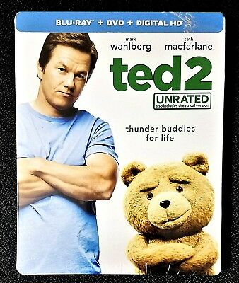 TED 2: UNRATED Limited Edition STEELBOOK (Blu-ray, 2018 + DIGITAL HD)