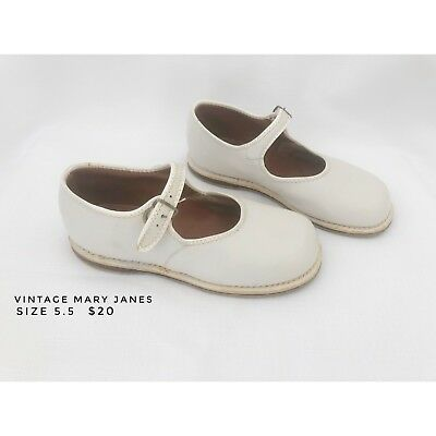 Vintage Toddler Mary Janes White