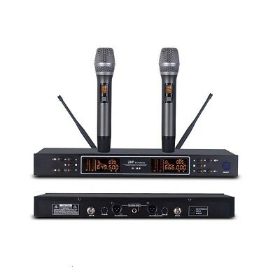 Dual Handheld Wireless Microphones System KTV Karaoke Microphones Singing Mike