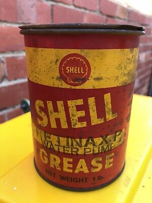 Shell Grease Tin Vintage