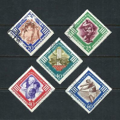 RUSSIA _ 1957 'YOUTH GAMES' SET of 5 _ used ____(553)