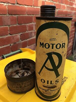 Vintage Oil Can Grease Tin