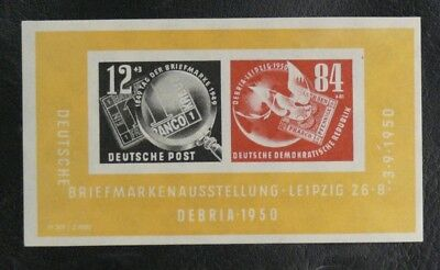 Timbres D'allemagne : 1950 Ddr Yvert Bloc Feuillet N° 1* Neuf Avec Trace Charni.