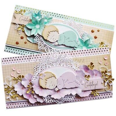 Baby Sleeping Cutting Die Diy Embossing Scrapbooking Paper Craft Stencil