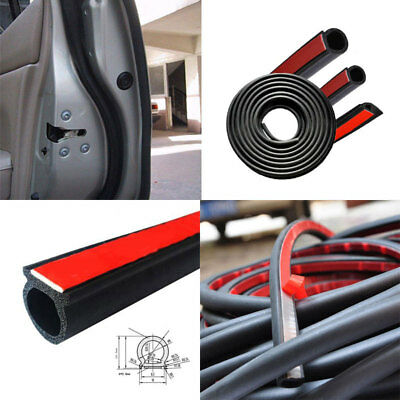 2A7F 5M Car Rubber Seal Small D Type Strip Truck Motor Door Weather Tape Strap H