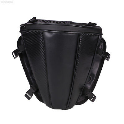 05FC Leather Waterproof Motorcycle Tail Tank Bag Saddle Pouch Storage Bag Gadget