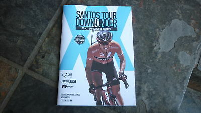 Cycling Champion Richie Porte Hand Signed 2018 Tour Down Under Cycling Program