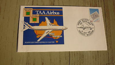 Australian Flight Cover, 1981 Taa Airbus Inaugural Flight, Toulouse - Melbourne