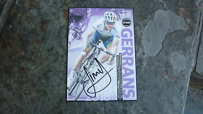 Cycling Champion Simon Gerrans Hand Signed Tour Down Under Winners Postcard