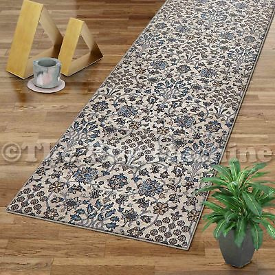 VINTAGE CREAM ALLOVER ANTIQUE STYLE TRADITIONAL RUG RUNNER 80x300cm **NEW**