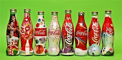 Coca Cola Turkish Turkey All Different Glass Wrapped Empty Bottles Collection