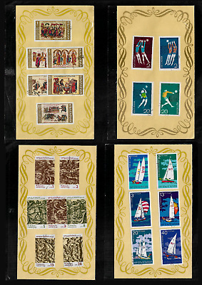 BULGARIA 1969 1970 1974 sets, in sealed packets on pages, CTO