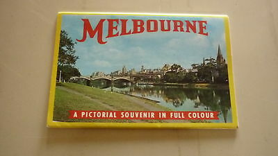 AUSTRALIAN OLD POSTCARD VIEW FOLDER. FROM THE 1960s MELBOURNE VICTORIA