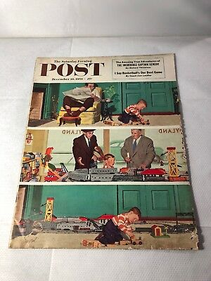 Vintage The Saturday Evening Post Magazine American December 1953 Great Adverts