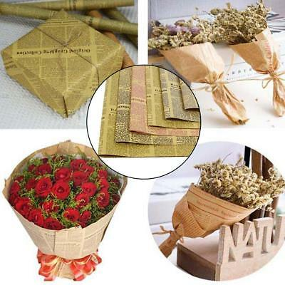 45pcs Retro English Newspaper Gift Packaging Wrapping Kraft Paper_New