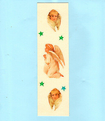 Victorian Guardian Angel Cherub Christian Die Cut Scraps God Bookmark Gift Her