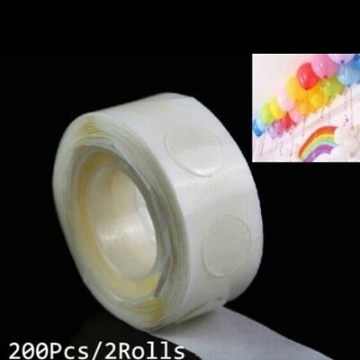 2 Rolls glue special dot double side adhesive balloon sticker ballons tool  I