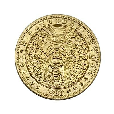 1883 Golden Coin with Case Indian Skull and Eagle Coin Collections