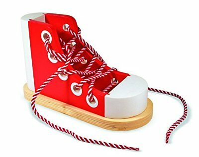 Melissa and Doug - Wooden Lacing Shoe Early Learning Toy Pre Educational 13018