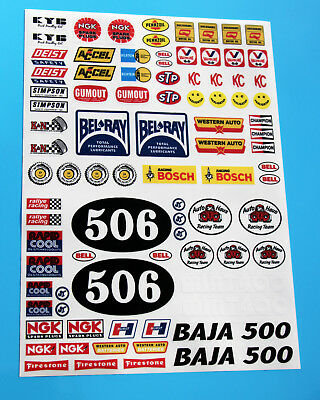 RC Vintage Retro 80's classic style Decals stickers logos Sand Scorcher SRB