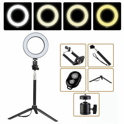 """8"""" Dimmable Ring Light LED Photography Selfie Photo Studio Makeup Phone Youtube"""