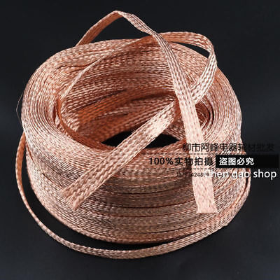 2mm-20mm Flat Copper Braid cable,Bare copper braid wire, ground lead #Q21D ZX