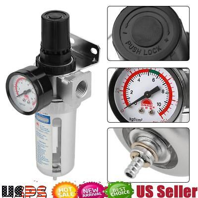"""Air Pressure Regulator for compressed air BSP 1/2"""" with gauge mount connection"""